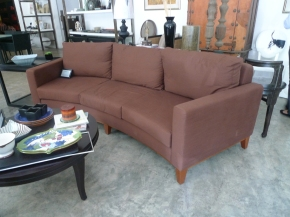 talk nest curved sofa